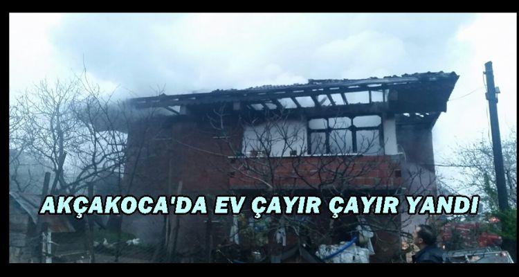 Düzce'de ev yangını (video haber)