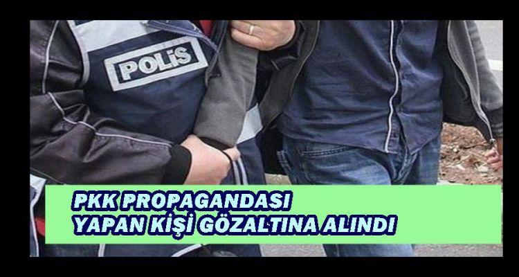 DÜZCE'DE PKK PROPAGANDASI YAPAN KİŞİ GÖZALTINA ALINDI