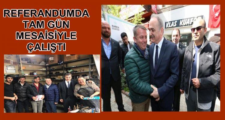 Esvet Sarıoğlu Referandumda Tam Gün Mesaiyle Çalışıyor