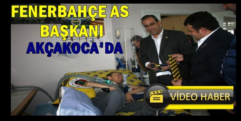 FENERBAHÇE AS BAŞKANI AKÇAKOCA'DA HASTA ZİYARET ETTİ
