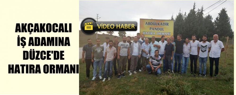 HAYIRSEVER İŞ ADAMINA  HATIRA ORMANI