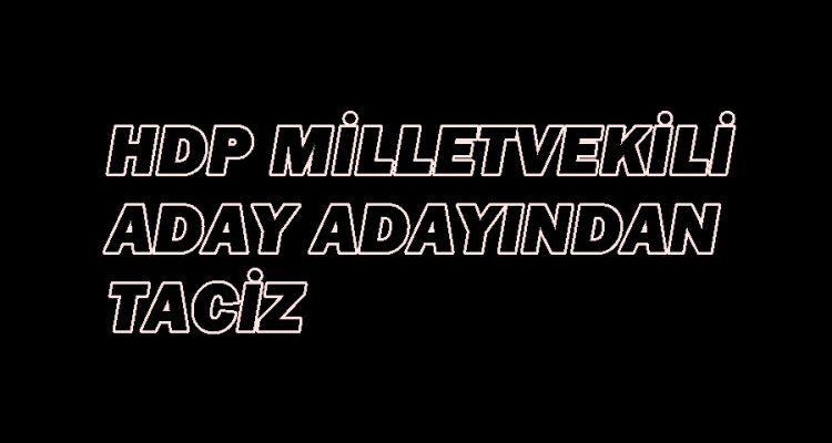 HDP milletvekili aday adayından taciz