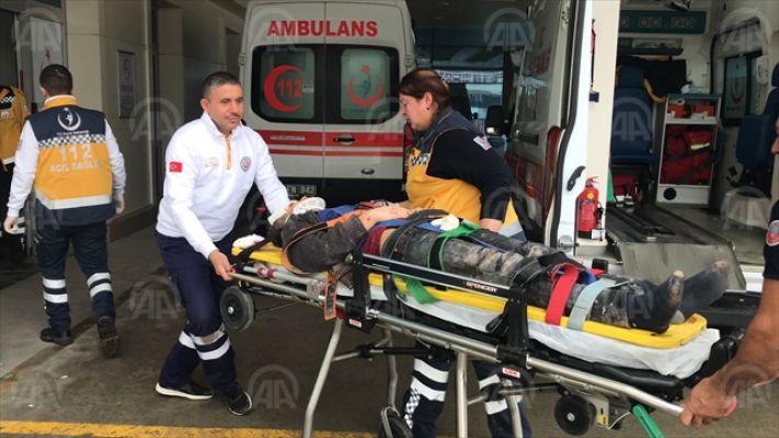 İnşaatta düşen genç işçi ağır yaralandı