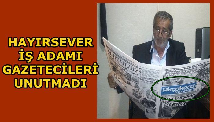 İŞ ADAMI KADİR PANDUL GAZETECİLERİ UNUTMADI