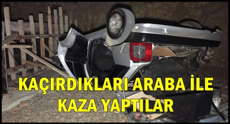 KAÇIRDIKLARI OTOMOBİL DEVRİLDİ!