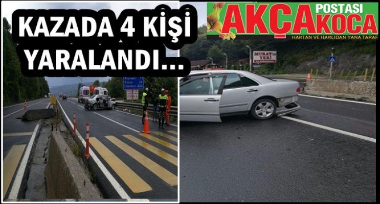 KAYNAŞLI DA TRAFİK KAZASI...