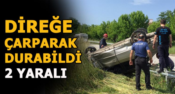OTOMOBİL TEPETAKLAK OLDU!