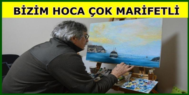 ÖZDAL ALAS ÇEKTİĞİ FOTOĞRAFLARI TUVALE AKTARIYOR ( VİDEOLU)