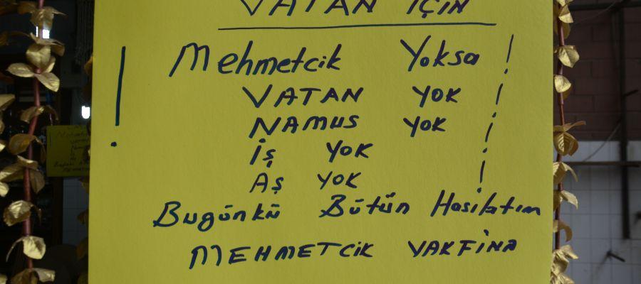 Pazarcı esnafı kazancını Mehmetçiğe bağışlıyor