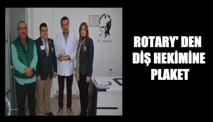 ROTARY'DEN BİR PLAKET DAHA ( VİDEO HABER )