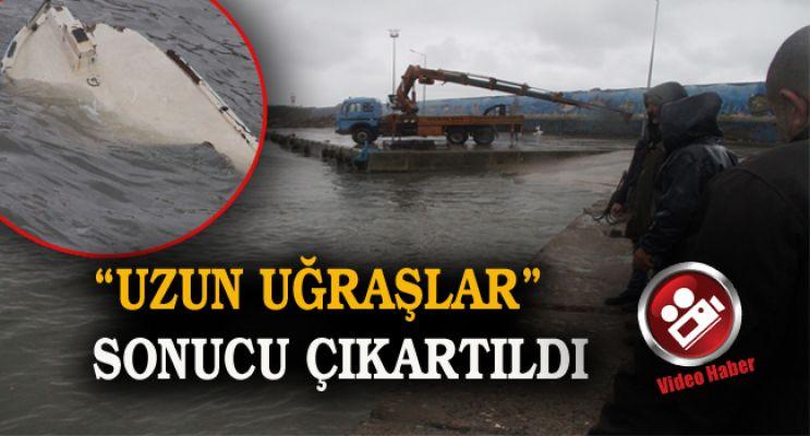 Şiddetli fırtına tekne batırdı