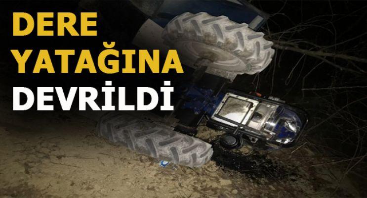Tarım Aracı Devrildi: 1 Yaralı