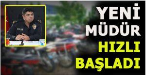AKÇAKOCA'DA BELGESİZ VE KURAL İHLALİ YAPAN MOTOSİKLETLER TOPLANIYOR