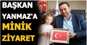MİNİK ÖĞRENCİLER BAŞKAN YANMAZ#039;A...