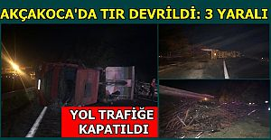 TEPEKÖY DE KAZA YOL TRAFİĞE KAPANDI