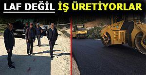 AK PARTİ HEYETİ ASFALT ÇALIŞMALARINI...