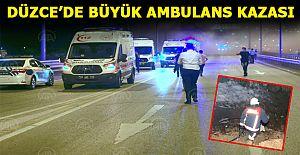 Ambulans şarampole devrildi 3#039;ü...