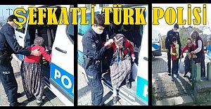 AKÇAKOCA POLİSİNİN ŞEFKATİ YÜREKLERİ ISITTI