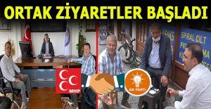 Ak Parti ve MHP ilçe başkanları ortak ziyaretlere başladı