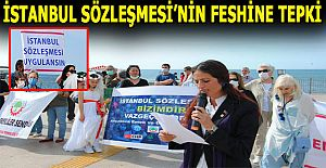 Akçakoca'da Kadınlar İstanbul Sözleşmesi'nin Feshine Tepki Verdi