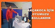 AGC TEMAYÜL YOKLAMASINDA OY KULLANDI