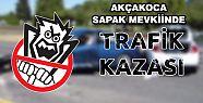AKÇAKOCA'DA TRAFİK KAZASI