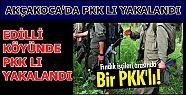 AKÇAKOCA'DA BİR PKK LI YAKALANDI