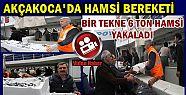 AKÇAKOCA'DA BİR TEKNE 6 TON HAMSİ AVLADI...