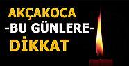 AKÇAKOCA'DA PLANLI ELEKTRİK KESİNTİLERİ...