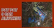 """Düzce'de """"patpat"""" kazası: 9 yaralı"""