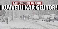 DÜZCE'YE KUVVETLİ KAR GELİYOR...