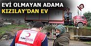 Evsiz vatandaşa Türk Kızılayından yardım...
