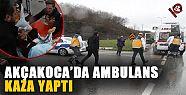 Hastan taşıyan ambulans kaza yaptı