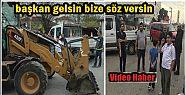İŞ MAKİNELERİNİN ÖNÜNÜ KESTİLER...