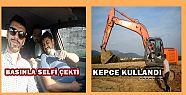 Kenan Sofuoğlu, Düzce'de Kepçe Kullandı...