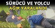 LASTİĞİ PATLAYINCA TAKLA ATTI (VİDEO)HABER