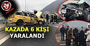 Trafik Kazası: 6 Yaralı (video)