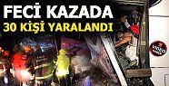 YOLCU OTOBÜSÜ İLE KAMYON ÇARPIŞTI 30...