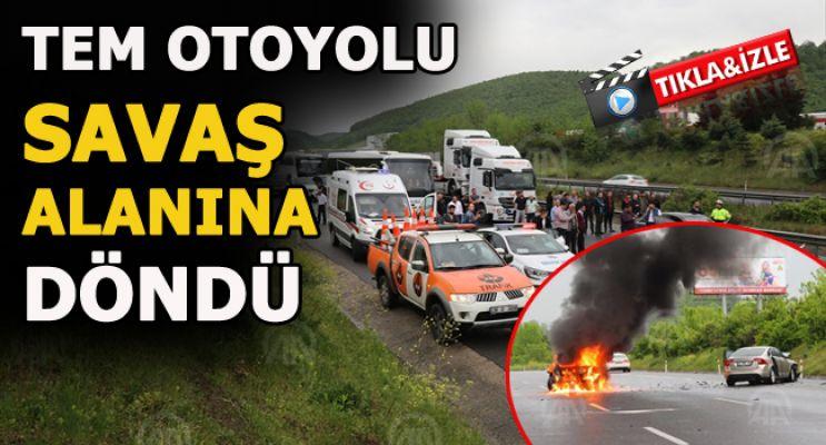 Trafik Kazası Anadolu Otoyolu'nda Ulaşımı Aksattı