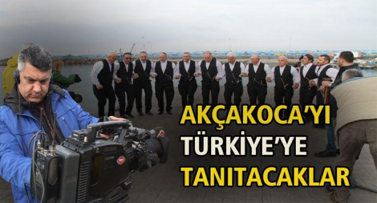 TRT EKİBİ AKÇAKOCA'DA TANITIM ÇEKİMLERİ YAPTI
