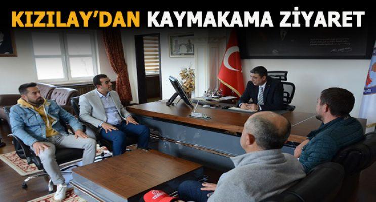 Türk Kızılay'ın dan Kaymakam Öztürk'e ziyaret