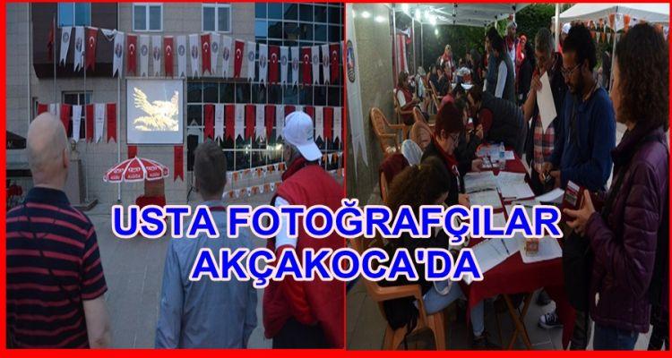 USTA FOTOĞRAFÇILAR AKÇAKOCA'DA(Video Haber)