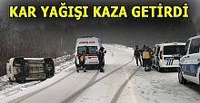 YOĞUN KAR YAĞIŞI KAZAYA NEDEN OLDU