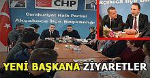 Cumhuriyet Halk Partisi (CHP) Akçakoca İlçe Başkanlığına ziyaretler devam ediyor.