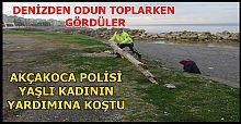 POLİS YAŞLI KADINA YARDIM ELİ UZATTI...