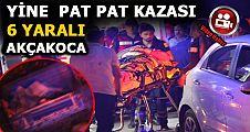 AKÇAKOCA'DA PAT PAT KAZASI 6 YARALI