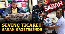 SEVİNÇ TİCARET'TEN SABAH GAZETESİNE 8 SAYFALIK REKLAM
