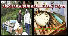 ARICILAR KIŞ HAZIRLIKLARINI TAMAMLADI