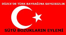 DÜZCE'DE TÜRK BAYRAĞINA SALDIRI