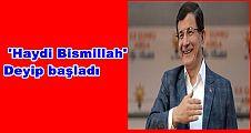 Davutoğlu, 'Haydi Bismillah' Deyip Samsun'da Seçim Startını Verdi